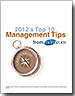 Top 10 Management Tips Cover